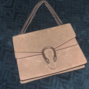 Gucci Suede Dionysus Beige Shoulder Bag